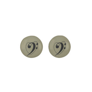 I love Bass clef! taupe earrings