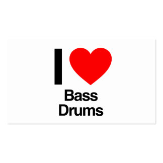 i love bass drums Double-Sided standard business cards (Pack of 100)