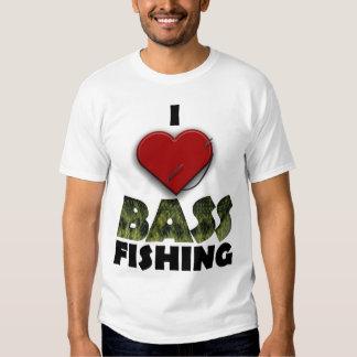 I Love Bass Fishing T-Shirt