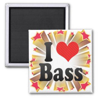 I Love Bass Fridge Magnets