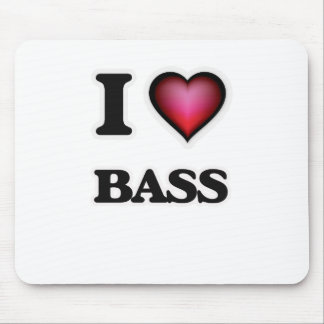 I Love Bass Mouse Pad
