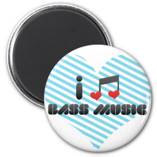 I Love Bass Music Fridge Magnets