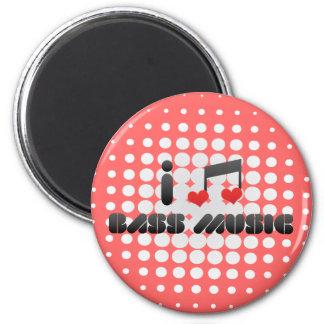 I Love Bass Music Magnets