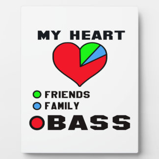 I love bass. display plaques