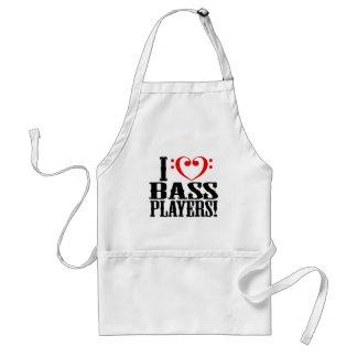 I Love Bass Players! Adult Apron
