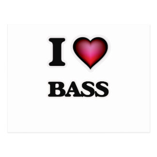 I Love Bass Postcard