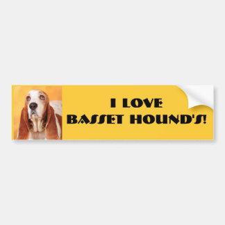 I love Basset Hound's! Bumper Sticker