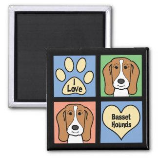 I Love Basset Hounds Magnet