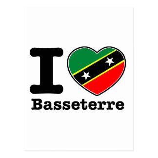 I love Basseterre Postcard