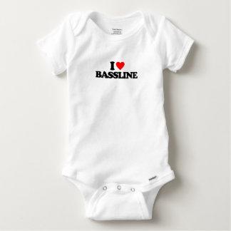 I LOVE BASSLINE BABY ONESIE
