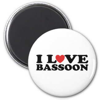 I Love Bassoon Fridge Magnet