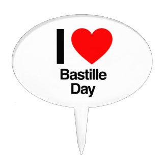 i love bastille day cake picks