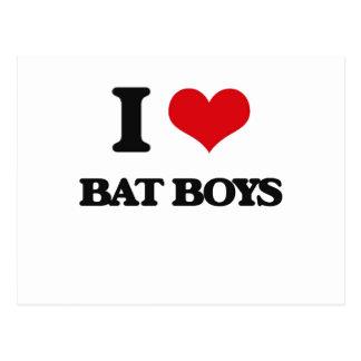I love Bat Boys Postcard