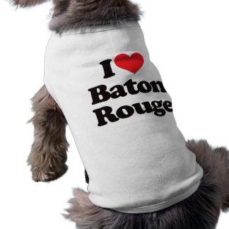 I Love Baton Rouge Pet Tee Shirt