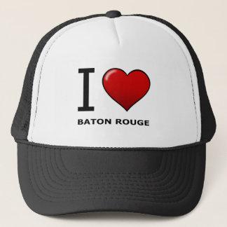 I LOVE BATON ROUGE,LA - LOUISIANA TRUCKER HAT