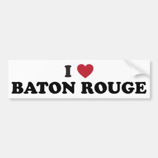 I Love Baton Rouge Louisiana Bumper Sticker