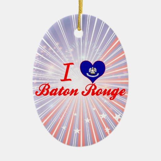 I Love Baton Rouge, Louisiana Christmas Tree Ornament