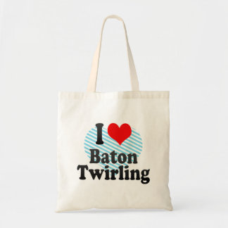 I love Baton Twirling Tote Bag