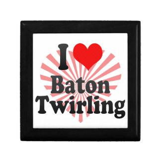 I love Baton Twirling Keepsake Boxes