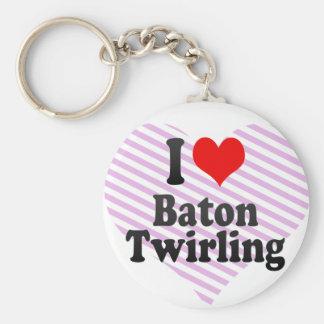 I love Baton Twirling Keychain