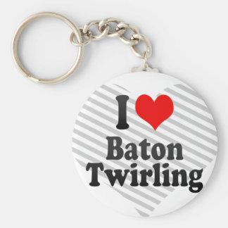 I love Baton Twirling Key Chain