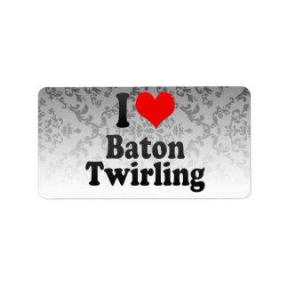 I love Baton Twirling Labels