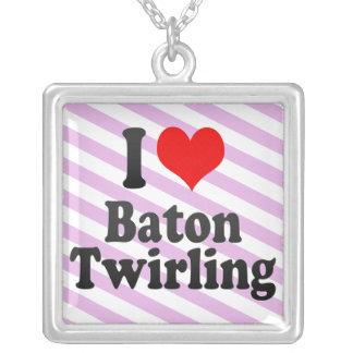 I love Baton Twirling Custom Necklace