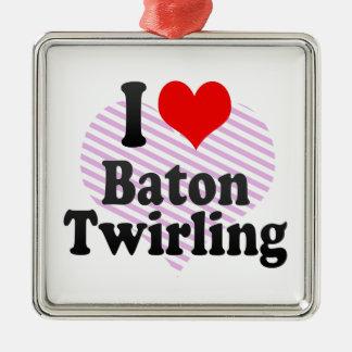I love Baton Twirling Ornament