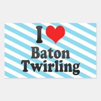 I love Baton Twirling Sticker