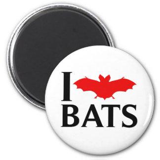 I Love Bats 2 Inch Round Magnet