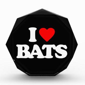 I LOVE BATS ACRYLIC AWARD