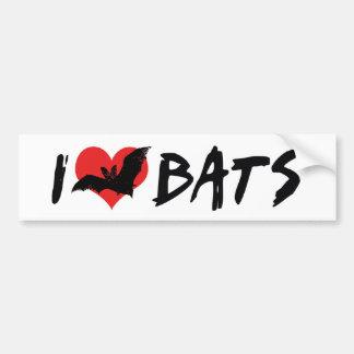 I Love Bats Bumper Sticker Car Bumper Sticker