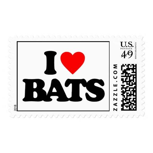 I LOVE BATS POSTAGE
