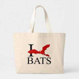 I Love Bats Tote Bags