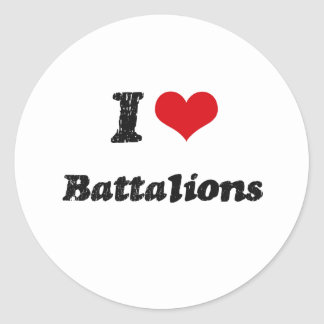 I Love BATTALIONS Sticker