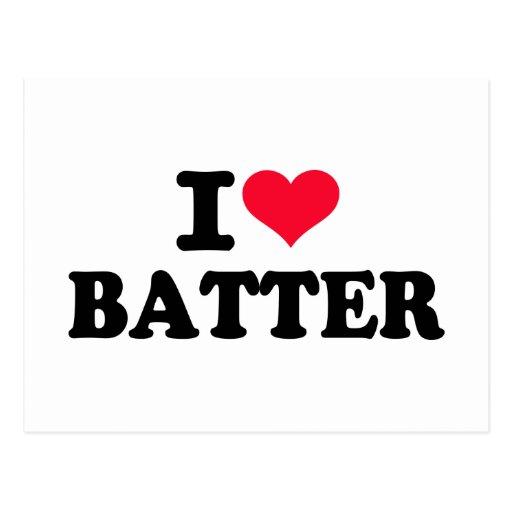 I love batter postcard