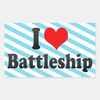 I love Battleship Rectangular Sticker