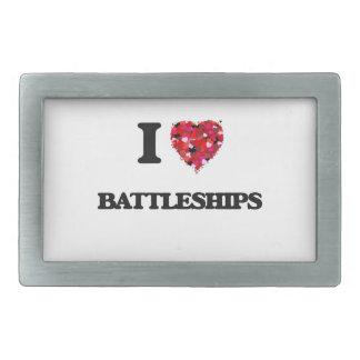 I Love Battleships Belt Buckles