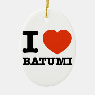 I Love Batumi Ceramic Ornament
