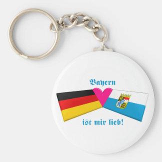I Love Bavaria / Bayern ist mir lieb Basic Round Button Keychain