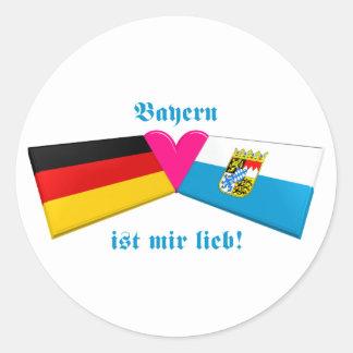 I Love Bavaria / Bayern ist mir lieb Round Sticker