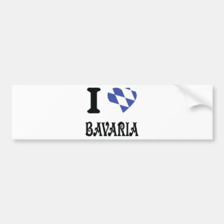 I love bavaria icon bumper sticker