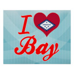 I Love Bay, Arkansas Print