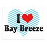 I Love Bay Breeze Postcard