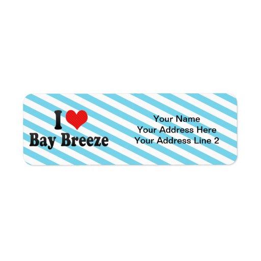 I Love Bay Breeze Return Address Labels