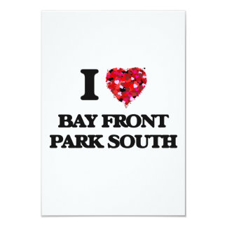I love Bay Front Park South Florida 3.5x5 Paper Invitation Card
