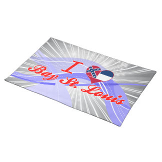 I Love Bay St. Louis, Mississippi Placemat