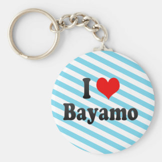 I Love Bayamo, Cuba Keychain