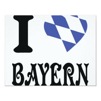 I love bayern 4.25x5.5 paper invitation card