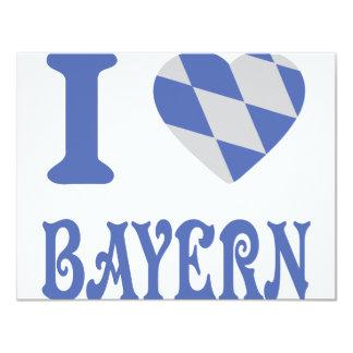 I love bayern icon 4.25x5.5 paper invitation card